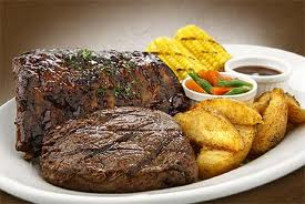 Beef Stake with corn