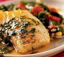 Sea Bass with colorful vegetables
