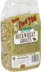 A bag of healthy buckwheat Groats from Bob's Red Mill