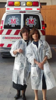 Ruchie & her mother complelting their training as EMTs