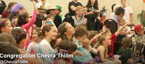 Some of the members of Congregation  Chevra Tehilim in San Francisco, California