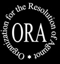 Logo ad for ORA an organization that assists women who need help getting a Jewish Divorce - a Get